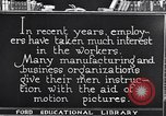 Image of Training and care of American workers United States USA, 1920, second 10 stock footage video 65675031025