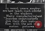 Image of Training and care of American workers United States USA, 1920, second 12 stock footage video 65675031025