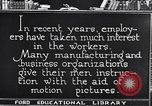 Image of Training and care of American workers United States USA, 1920, second 13 stock footage video 65675031025