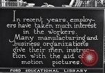 Image of Training and care of American workers United States USA, 1920, second 14 stock footage video 65675031025
