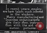 Image of Training and care of American workers United States USA, 1920, second 15 stock footage video 65675031025