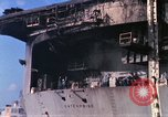 Image of USS Enterprise docked after fire Pearl Harbor Hawaii USA, 1969, second 43 stock footage video 65675031057