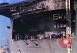 Image of USS Enterprise docked after fire Pearl Harbor Hawaii USA, 1969, second 44 stock footage video 65675031057