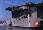 Image of USS Enterprise docked after fire Pearl Harbor Hawaii USA, 1969, second 56 stock footage video 65675031057