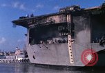 Image of USS Enterprise docked after fire Pearl Harbor Hawaii USA, 1969, second 57 stock footage video 65675031057