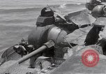 Image of USS Forrestal damage from fire Gulf of Tonkin Vietnam, 1967, second 28 stock footage video 65675031063