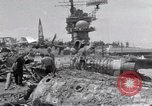 Image of USS Forrestal damage from fire Gulf of Tonkin Vietnam, 1967, second 50 stock footage video 65675031063