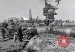 Image of USS Forrestal damage from fire Gulf of Tonkin Vietnam, 1967, second 51 stock footage video 65675031063