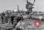 Image of USS Forrestal damage from fire Gulf of Tonkin Vietnam, 1967, second 52 stock footage video 65675031063