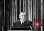 Image of President Lyndon B Johnson Baltimore Maryland USA, 1965, second 13 stock footage video 65675031140