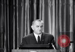 Image of President Lyndon B Johnson Baltimore Maryland USA, 1965, second 14 stock footage video 65675031140