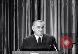Image of President Lyndon B Johnson Baltimore Maryland USA, 1965, second 16 stock footage video 65675031140