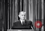 Image of President Lyndon B Johnson Baltimore Maryland USA, 1965, second 18 stock footage video 65675031140