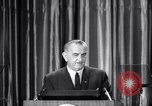 Image of President Lyndon B Johnson Baltimore Maryland USA, 1965, second 19 stock footage video 65675031140