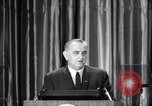 Image of President Lyndon B Johnson Baltimore Maryland USA, 1965, second 21 stock footage video 65675031140