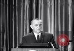 Image of President Lyndon B Johnson Baltimore Maryland USA, 1965, second 28 stock footage video 65675031140