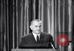 Image of President Lyndon B Johnson Baltimore Maryland USA, 1965, second 30 stock footage video 65675031140