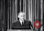 Image of President Lyndon B Johnson Baltimore Maryland USA, 1965, second 32 stock footage video 65675031140