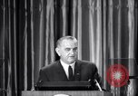 Image of President Lyndon B Johnson Baltimore Maryland USA, 1965, second 33 stock footage video 65675031140