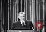 Image of President Lyndon B Johnson Baltimore Maryland USA, 1965, second 35 stock footage video 65675031140
