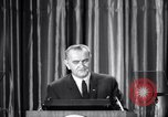 Image of President Lyndon B Johnson Baltimore Maryland USA, 1965, second 36 stock footage video 65675031140
