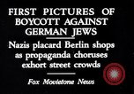Image of Nazis call for Jewish boycott Berlin Germany, 1933, second 1 stock footage video 65675031316