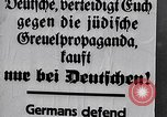 Image of Nazis call for Jewish boycott Berlin Germany, 1933, second 62 stock footage video 65675031316