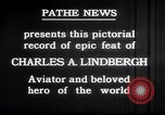 Image of Charles Lindbergh New York United States USA, 1927, second 16 stock footage video 65675031329