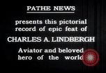 Image of Charles Lindbergh New York United States USA, 1927, second 17 stock footage video 65675031329