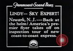 Image of Charles Lindbergh Newark New Jersey USA, 1929, second 2 stock footage video 65675031343