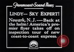 Image of Charles Lindbergh Newark New Jersey USA, 1929, second 12 stock footage video 65675031343
