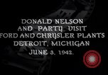 Image of Donald Nelson Detroit Michigan USA, 1942, second 2 stock footage video 65675031348