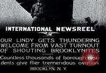 Image of Charles Lindbergh Brooklyn New York City USA, 1927, second 1 stock footage video 65675031419