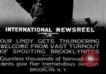 Image of Charles Lindbergh Brooklyn New York City USA, 1927, second 3 stock footage video 65675031419