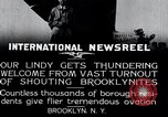 Image of Charles Lindbergh Brooklyn New York City USA, 1927, second 10 stock footage video 65675031419