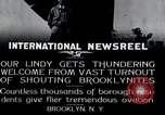 Image of Charles Lindbergh Brooklyn New York City USA, 1927, second 12 stock footage video 65675031419
