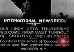 Image of Charles Lindbergh Brooklyn New York City USA, 1927, second 13 stock footage video 65675031419