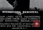 Image of Charles Lindbergh Brooklyn New York City USA, 1927, second 14 stock footage video 65675031419