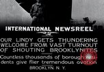Image of Charles Lindbergh Brooklyn New York City USA, 1927, second 15 stock footage video 65675031419