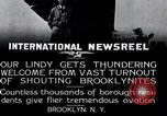Image of Charles Lindbergh Brooklyn New York City USA, 1927, second 16 stock footage video 65675031419