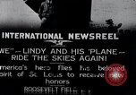 Image of Charles Lindbergh New York United States USA, 1927, second 1 stock footage video 65675031420