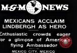 Image of Charles Lindbergh Mexico City Mexico, 1927, second 4 stock footage video 65675031424