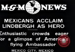Image of Charles Lindbergh Mexico City Mexico, 1927, second 12 stock footage video 65675031424