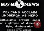 Image of Charles Lindbergh Mexico City Mexico, 1927, second 13 stock footage video 65675031424
