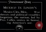Image of Charles Lindbergh Mexico City Mexico, 1927, second 6 stock footage video 65675031425