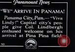 Image of Charles Lindbergh feted by President Rodolfo Chiari  Panama City Panama, 1928, second 13 stock footage video 65675031428