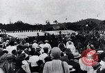 Image of Charles Lindbergh feted by President Rodolfo Chiari  Panama City Panama, 1928, second 44 stock footage video 65675031428