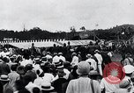 Image of Charles Lindbergh feted by President Rodolfo Chiari  Panama City Panama, 1928, second 45 stock footage video 65675031428