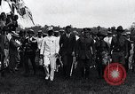 Image of Charles Lindbergh feted by President Rodolfo Chiari  Panama City Panama, 1928, second 50 stock footage video 65675031428