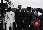 Image of Charles Lindbergh feted by President Rodolfo Chiari  Panama City Panama, 1928, second 54 stock footage video 65675031428